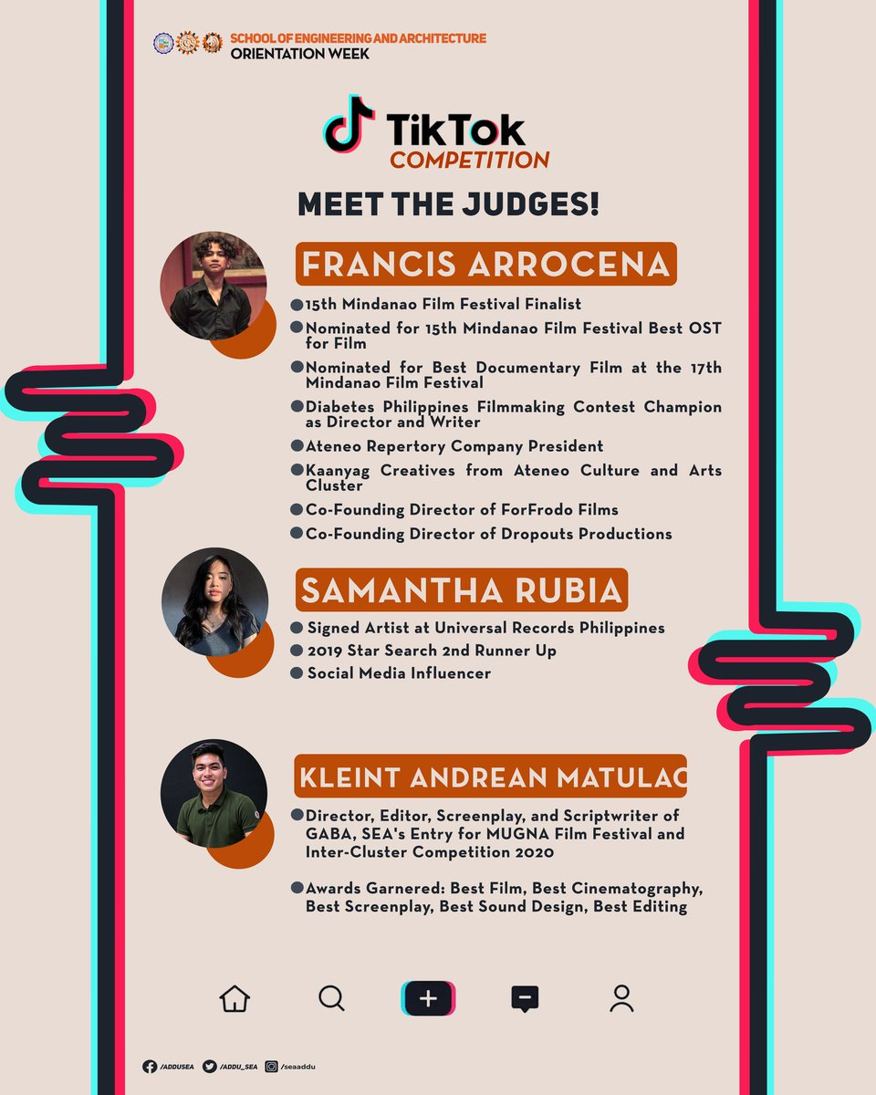 Introducing, the judges of the TikTok competition and the criteria for judging. Good luck Tigers!! 🧡🐯