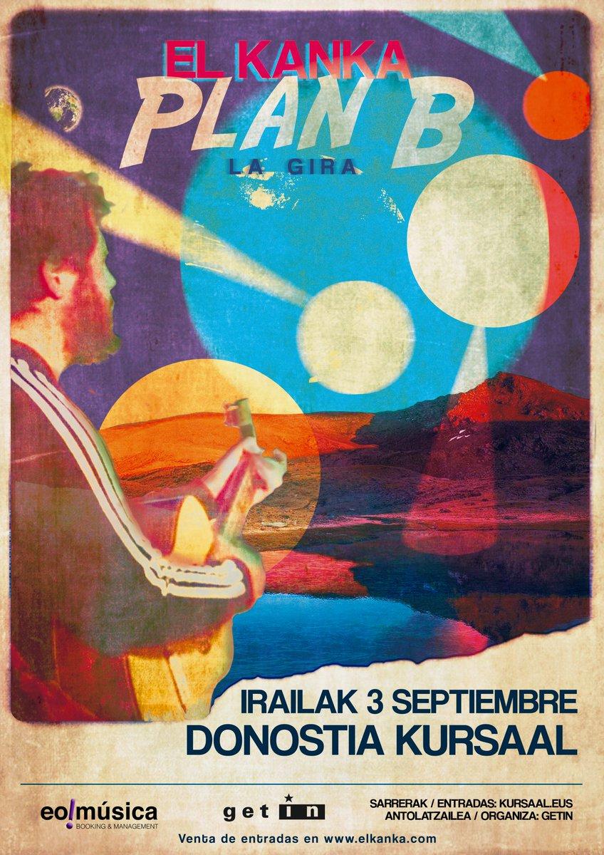 """@El_Kanka retoma los directos este verano con su gira """"Plan B"""" y actuará en el @KursaalDonostia el 3 de septimebre. 🪕  🎟️Entradas a la venta este viernes 10 a las 10:00 en https://t.co/4mezI92jrs. ¡Vuelven los directos a #donostia! https://t.co/3tmP4JC96c"""