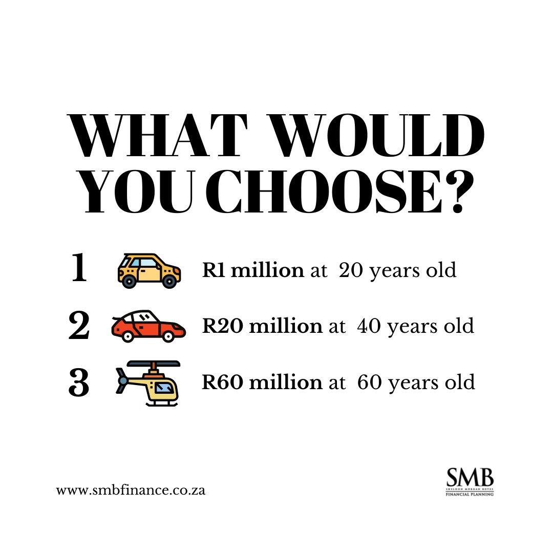 💸 Money Choice 💸  I am curious, which option would you choose and why?  #moneygoals #moneychoice #wealth #personalfinance #financialplanning #financialplan https://t.co/iqjqk4SSzH