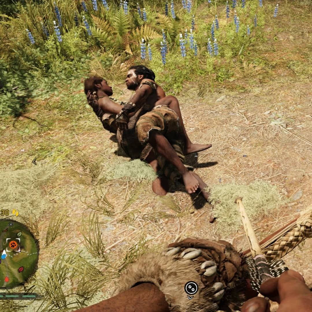 Yes people, this is EXACTLY what it looks like. Heard a lot moaning and screaming, so I thought my people were in need... Came up running to find them not so much in need (of rescuing) after all #FarCry #farcryprimal #hotlove #gamer #consolegamer #ps4pic.twitter.com/iOl2vYGhzz