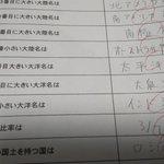 【悲報】2番目に大きい大洋名の設問に中学校で痛恨のミス!大泉洋と書いてしまった!