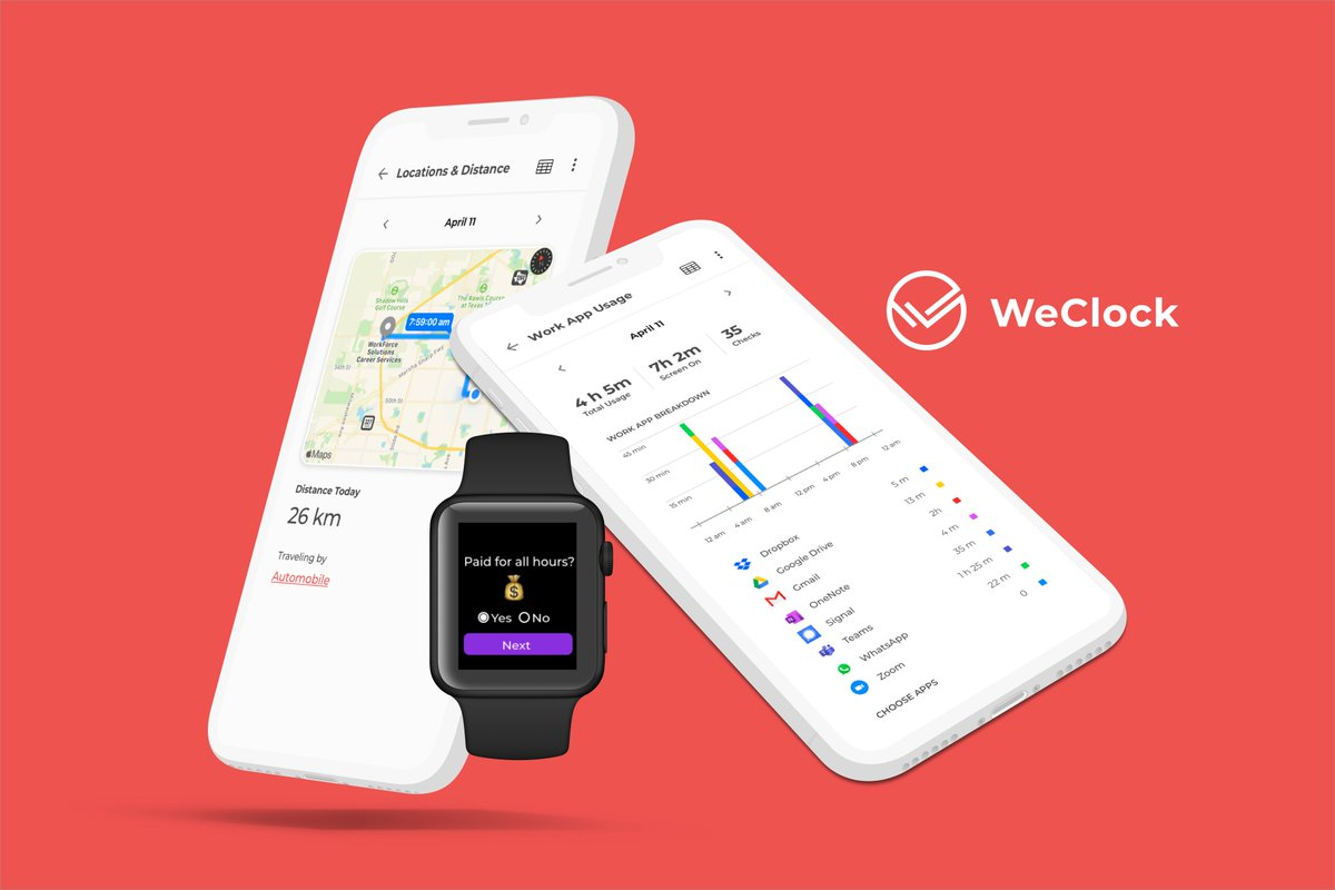 Check out @WeClockIt - a new app for workers to fight wage theft. Monitor your working day, and keep control of your #data   ⏰https://t.co/IXWjax2Oun https://t.co/DSy8h0SeF6