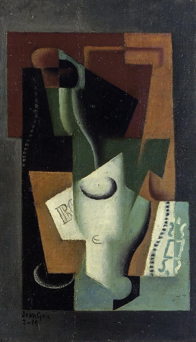 Glass and Bottle, Juan Gris #spanishart #juangris <br>http://pic.twitter.com/fitb2oUERI