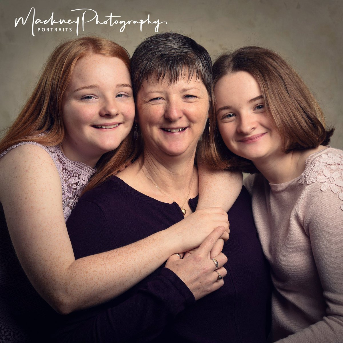 Here come the girls!  I don't think you're ever too old for a cuddle with mum. Tell us why your sending your mum lots of love today #FamilyPortrait #Studioportrait #Generations #family #love #portraits #photography #mackney #derbypic.twitter.com/ovv6BEk4lr