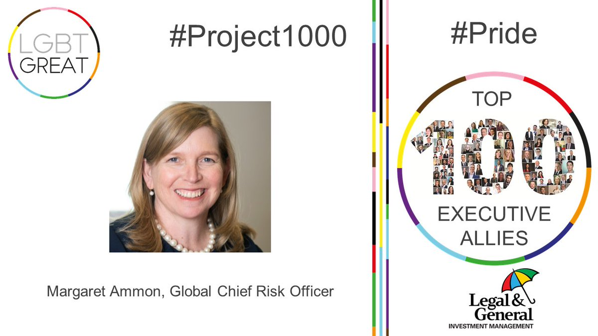 """Improving the work environment for LGBT+ people through allies is a powerful way to drive positive change"" - Margaret Ammon, Global Chief Risk Officer, @LGIM #Project1000 #Pride #YouMeUsWe https://t.co/h4zmZbRJwZ https://t.co/wyfBSN29ZA"
