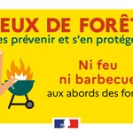 Image for the Tweet beginning: ⚠🌲 1 feu de forêt
