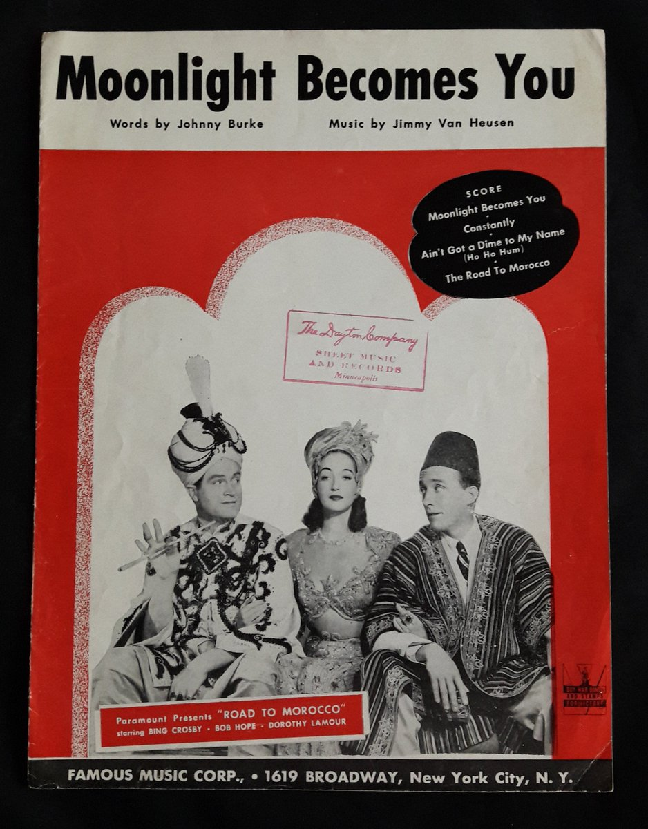 Fabulous addition to my #etsyvintage shop: Moonlight Becomes You 1942 Sheet Music   Paramount Pictures Road to Morocco https://etsy.me/38zZ0vx #moonlightbecomesyou #roadtomorocco #dorothylamour #bobhope #bingcrosby #wiseshopper #shopvintagepic.twitter.com/R3BjwdQLDq