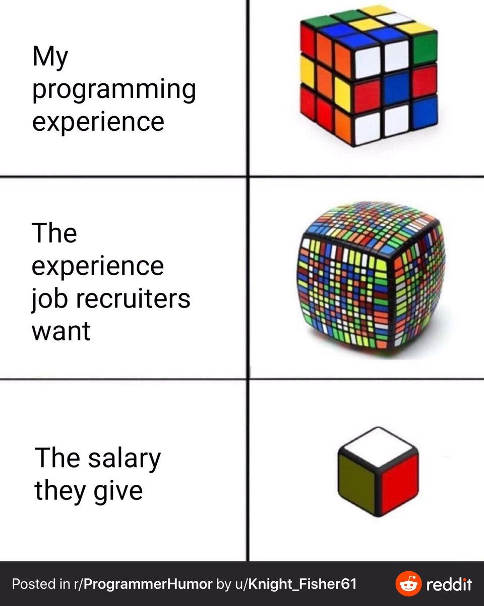 I feel for the #CodeNewbie and #100DaysOfCode people out there that run into this.  Not all employers are terrible.<br>http://pic.twitter.com/6doVgvlGTF