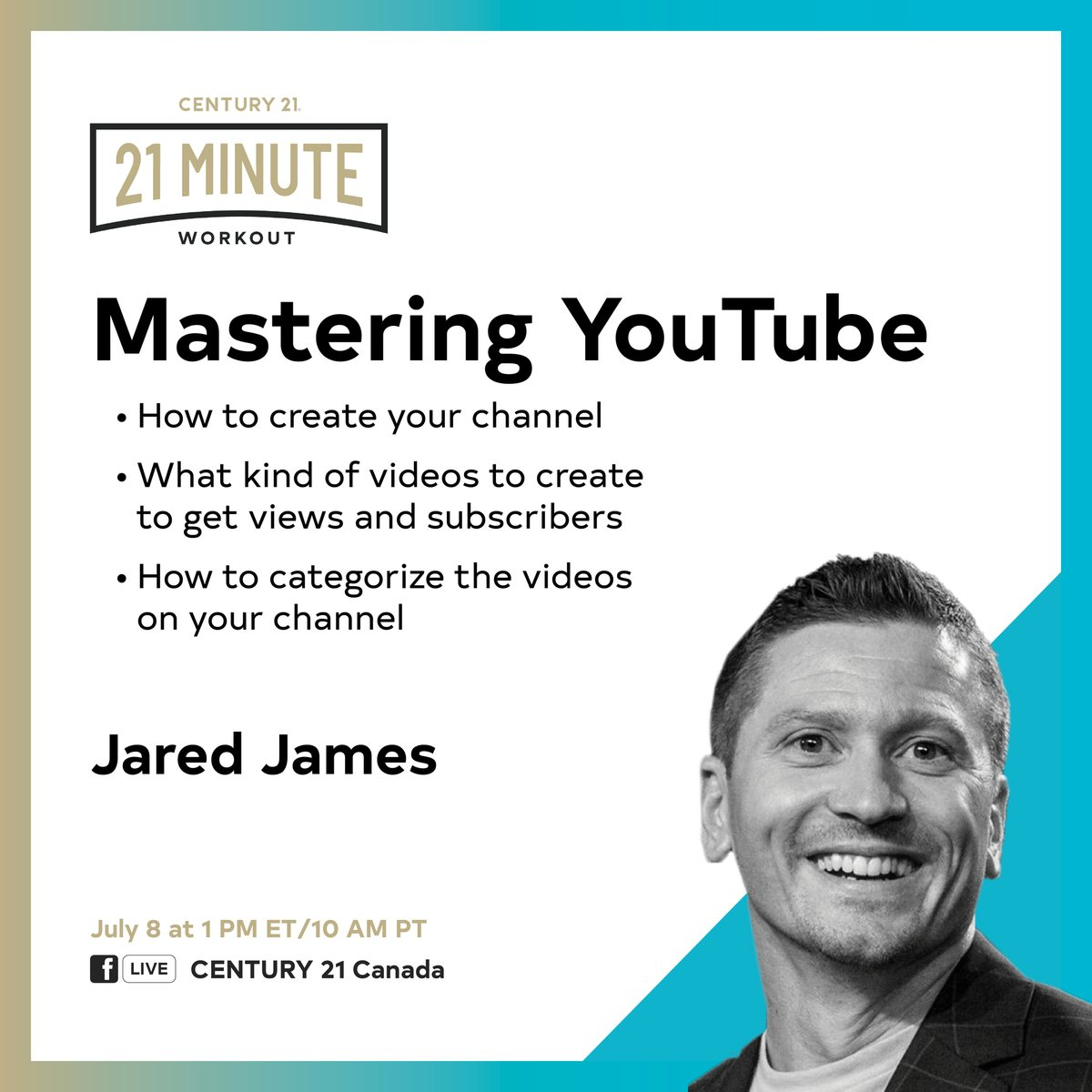 Learn how to master YouTube today at 1! #berelentless #staysafe #C21 #C21United #WhyC21United #387George #loveyourlocalrealtor #PTBO #Peterborough #RealEstate #Kawarthas #PtboCanada #Realtor #firsttimehomebuyer... http://www.facebook.com/291169517561239_3383046298373530…pic.twitter.com/jESLWsutPa