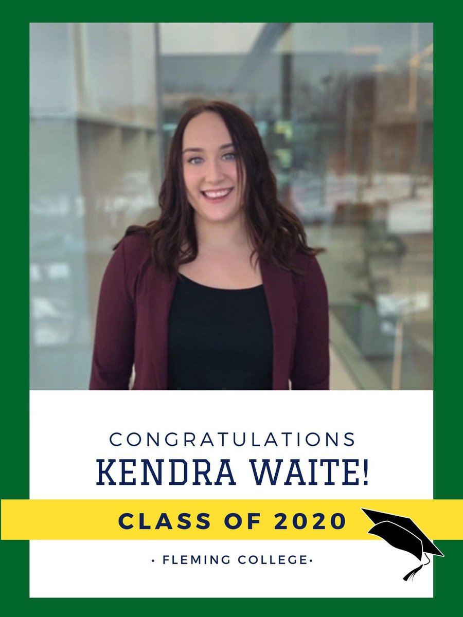 Congratulations Kendra Waite, @FlemingCollege HR Program graduate!  She shares, 'I couldn't have asked for a better program or school'.  Kendra wil now pursue a Degree in HR Management. We wish you every success!!!!💚💛 #classic2020 #fleminggrad #hrpa #hrpaptbo #hrprofessional https://t.co/FD6O01M5XL
