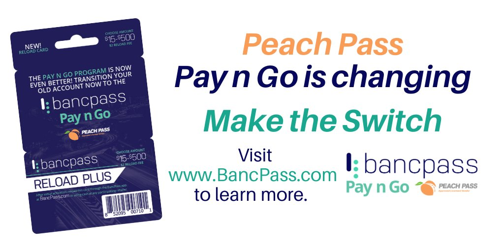 Attention Georgia Drivers! Peach Pass Pay N Go will soon be changing!  Stay tuned in the coming days for more details on this exciting news!  #bancpass #tollroads #tolltag #payngo #georgia #atlanta #peachpassga #peachpass #tolls #specialoffers #PROMO https://t.co/vnw4sJ93lL