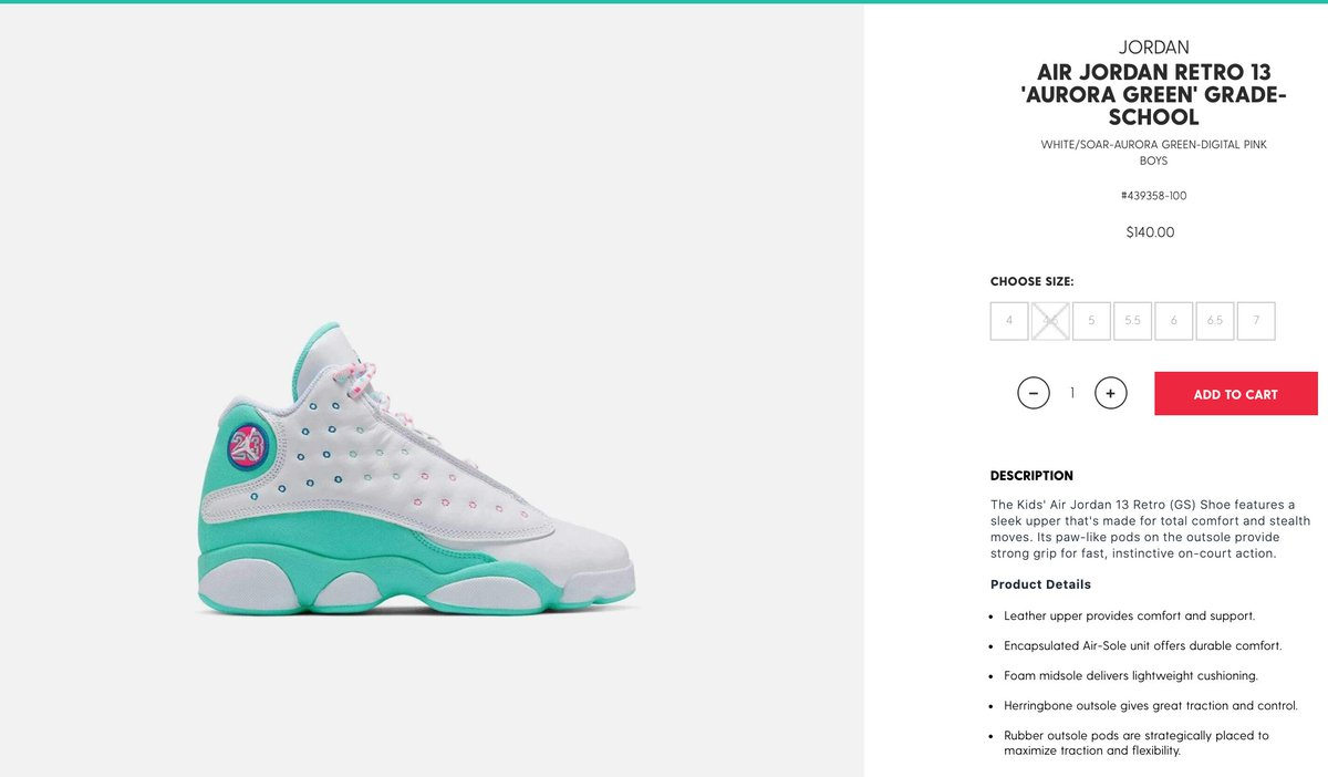Sole Links On Twitter Ad Gs Air Jordan 13 Retro Aurora Green Restocked Via Dtlr Https T Co Ilzhkdxedw