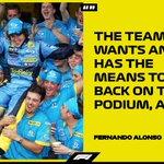 💪 @alo_oficial   #F1 @RenaultF1Team