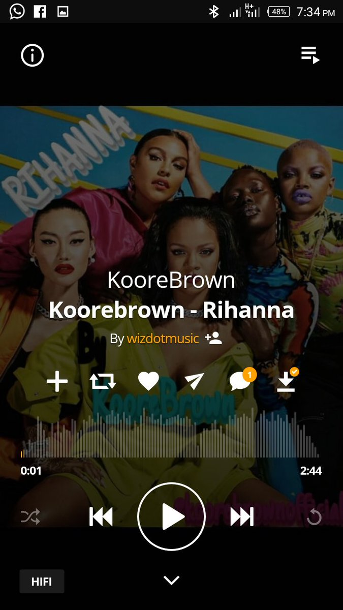 To all d Beautiful Rihanna's in d world I present to you RIHANNA by KooreBrown   Trust me IssaVibe y'all need to update on your playlist  @koorebrownofficial AVAILABLE ON AUDIOMACK And MINO Links Below  https://audiomack.com/song/wizdotmusic/koorebrown-rihanna … @Fenxty @coversland @kkwtribe @bad https://twitter.com/rihanna/status/1280635750623535104 …pic.twitter.com/FEUnz0z7Zd