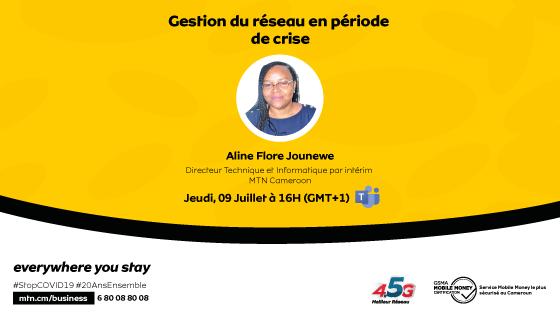 """Y'ello! Ce 09 Juillet à 16h, les Master Class continuent avec MTN. Pour ce 9ème talk, Aline Flore JOUNEWE, Directeur Technique et Informatique par intérim va nous entretenir sur le thème :  """"Gestion du réseau en période de crise"""". Inscription ici : https://t.co/th5jrW2PfQ https://t.co/u5u93sIpFl"""
