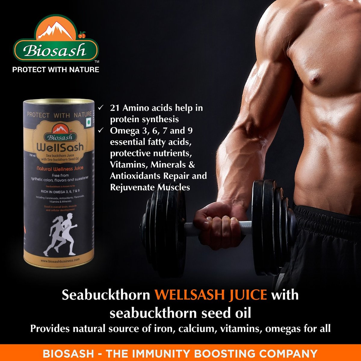 Seabuckthorn Wellsash Juice with Seabuckthorn seed oil provides natural source of Iron, Calcium Viamins and Omegas.  21 Amino acids help in protein synthesis.   #Wellsash #seabuckthorn #protein pic.twitter.com/nvDYpX0cLm