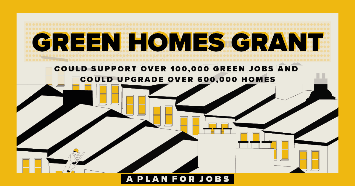 The government will fund up to £2 billion worth of grants for green home improvements, supporting thousands of new and existing jobs while slashing energy bills across England. #PlanForJobs https://t.co/HkwV39gfRh