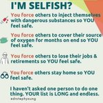 Image for the Tweet beginning: Selfish? If this was about