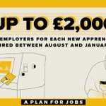 Image for the Tweet beginning: We'll provide £2,000 to employers