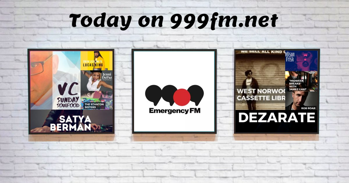 Midweek music on #999fmnet Lisyen online or via the iOS/Android apps. Contact Tariq Ziyad@Funk Labs for all enquiries #radio #djs #nowplaying https://t.co/lcr5yICEZz