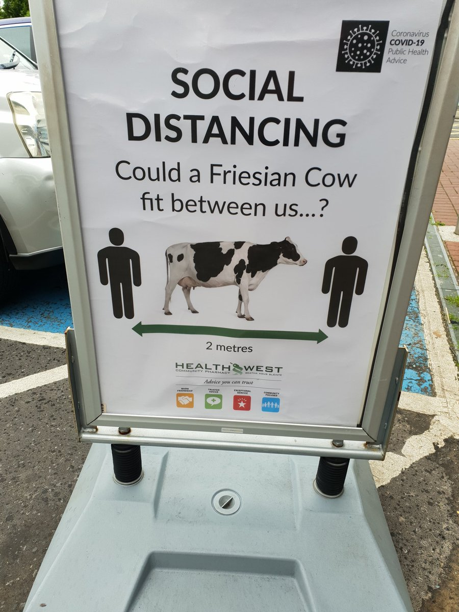 Best sign in the world for social distance @rtenews @HSELive @MayoGAA