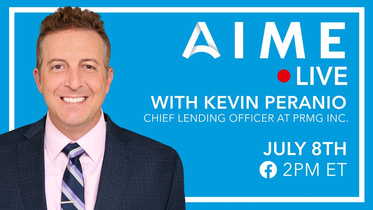 Tune in today❗ @AnthonyCasaAIME is going live 🔴 on our Facebook page with Kevin Peranio, of @PRMGCorp. They're diving into the #economy, #capitalmarkets, and give an outlook on the second half of 2020. It's all happening @ 2pm ET ➡ https://t.co/xgFHvJBiiE https://t.co/wYjiZ0Mn4E