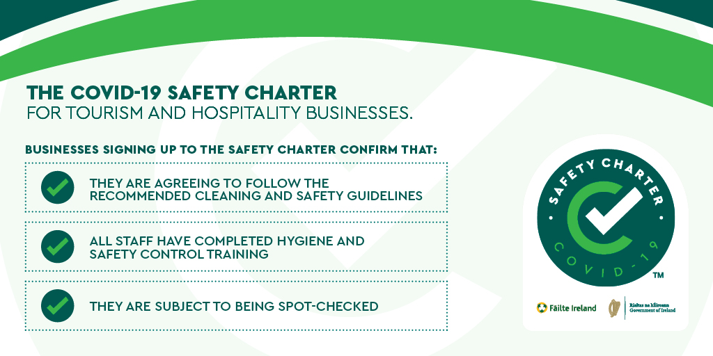 Very proud to have been awarded the @Failte_Ireland Covid-19 Safety Charter Mark. One of the many ways in which we are proving our commitment to hygiene and safety for our guests and team  #cork #purecorkwelcomes #purecork #welcomebackcork https://t.co/d6GFFNzwi4