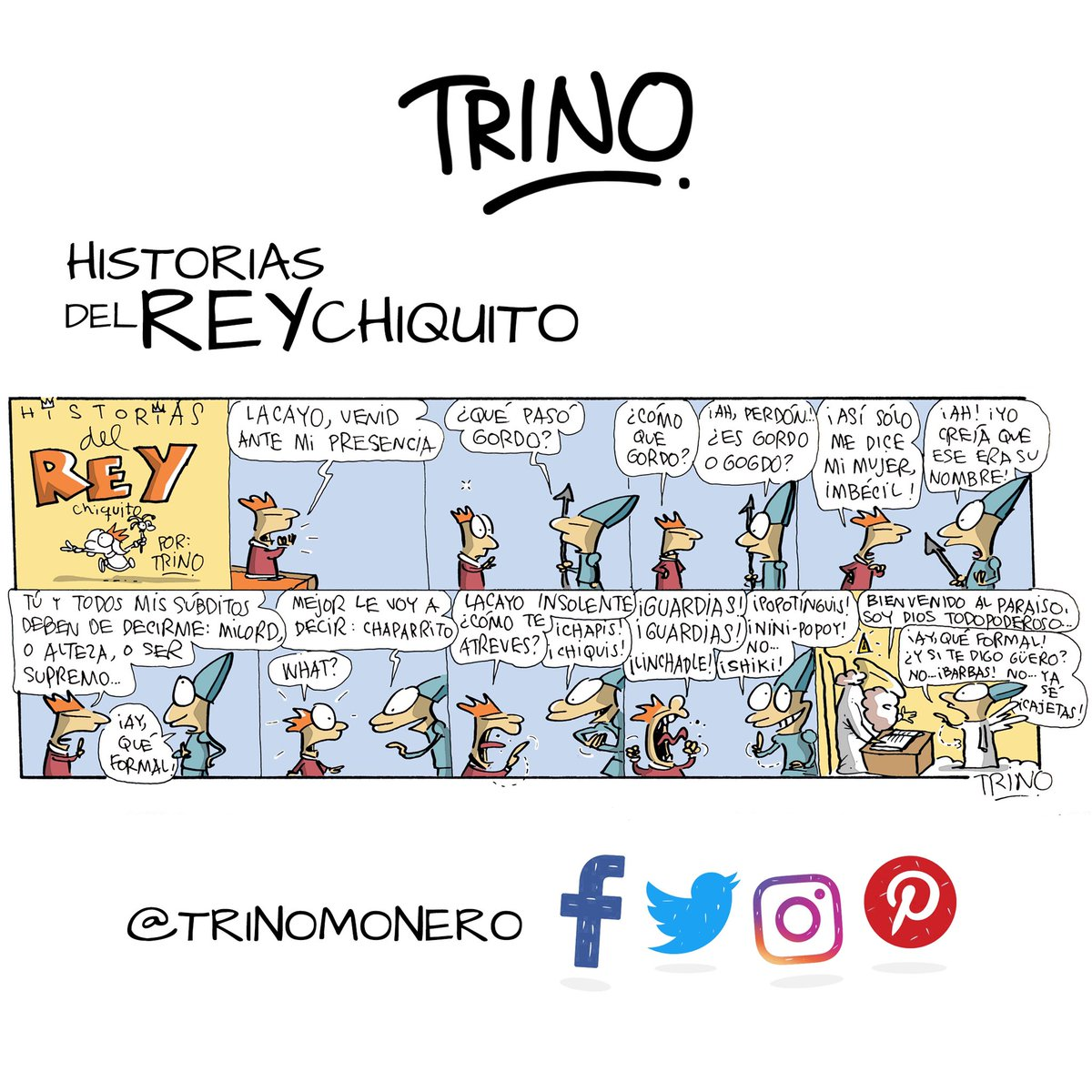 Miércoles imperial del Rey chaparrito, digo, del Rey gordito, no... del Rey ñenguito... ustedes pasen a verlo, es gratis #trinomonero https://t.co/rGXXjoRoEk