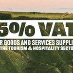 Image for the Tweet beginning: We're reducing VAT to 5%