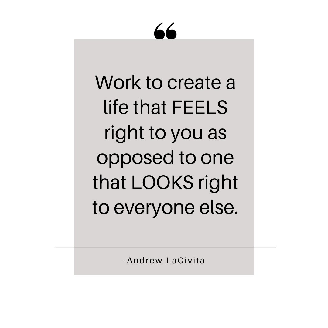 Work to create a life that FEELS right to you as opposed to one that LOOKS right to everyone else.  #motivation #motivations #motivational #motivationalquotes #motivationquote #inspiration #success #careercoach #todayslinetoliveby #milewalkacademypic.twitter.com/IHExEMyqMB