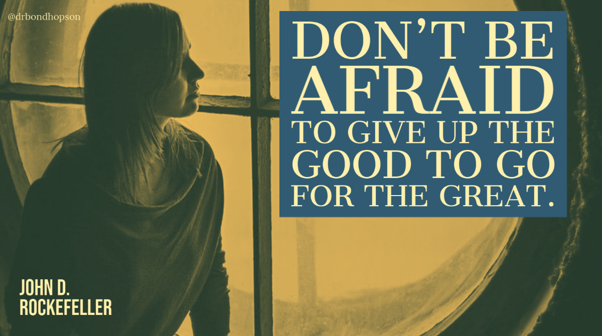 """""""Don't be afraid to give up the #good to go for the #great."""" - John D. Rockefeller #Motivation #quotes https://t.co/QYsEexPtgM"""