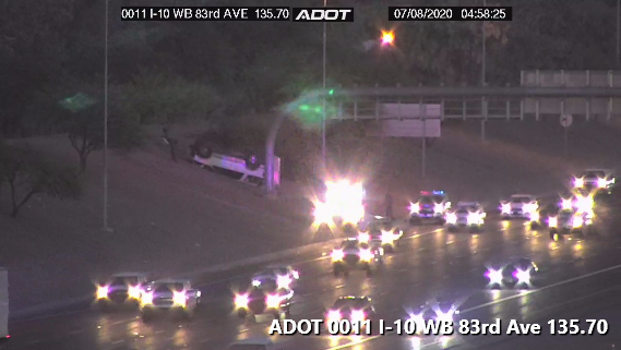 I-10 EB near 83rd: A rollover crash on the shoulder may result in lane closures. #phxtraffic