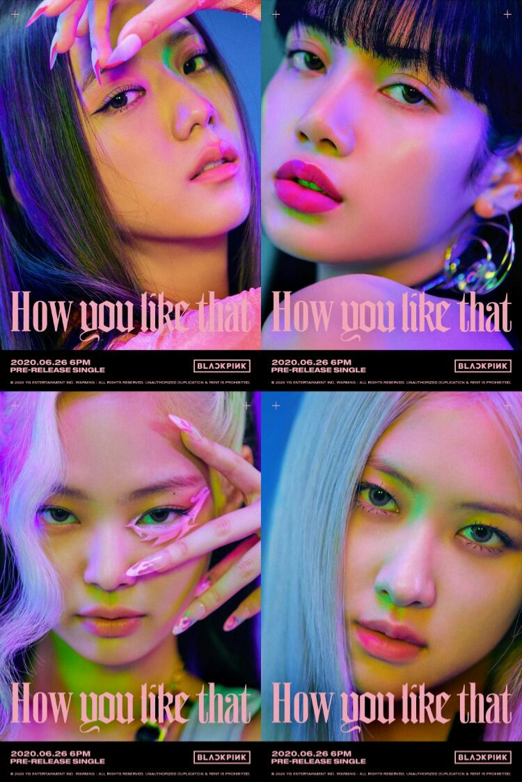 xueer, jiaqi, daimeng, xyyz as blackpink's how you like that concept <br>http://pic.twitter.com/ecyTOfBhnk