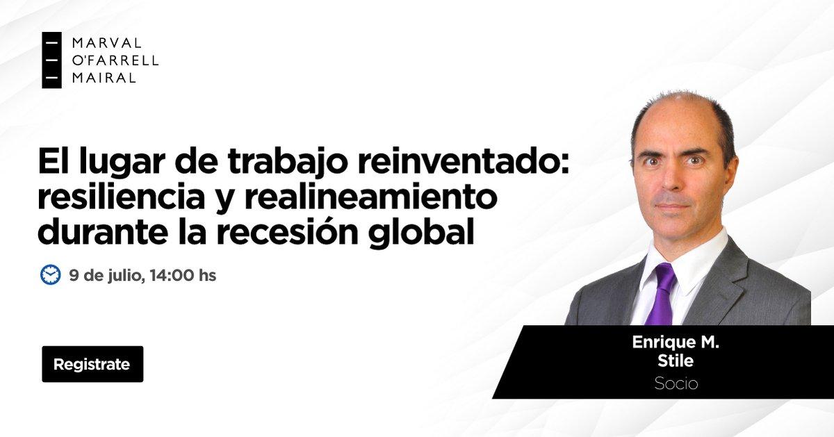 Nuestro socio Enrique Mariano Stile participará en un webinar que analizará los reglamentos relacionados al regreso al trabajo, la continuidad del teletrabajo, despidos y realineamiento de equipos.  📆 9 de julio 🕑 14hs 📲 https://t.co/7C8GmHqXHC  #teletrabajo #trabajo #laboral https://t.co/FbxHTv13hk