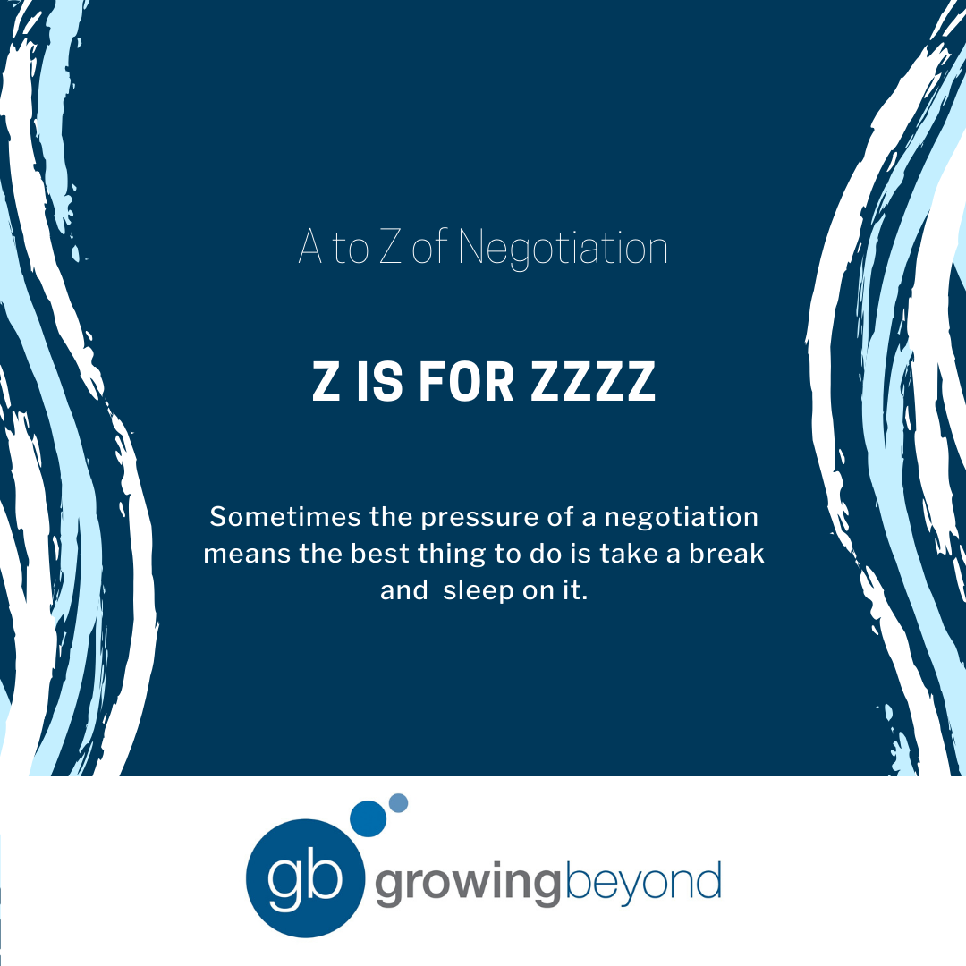 The way you feel in the negotiation may change if you take the time to sleep on it.  Well rested negotiators are more alert and more creative. https://t.co/pVIE3HBMH2
