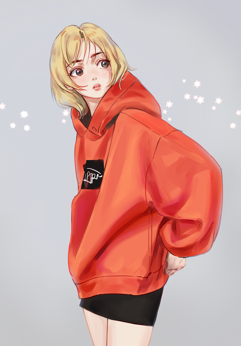 "NonexistentWorld on Twitter: ""Practice. #hoodie #anime #orange"