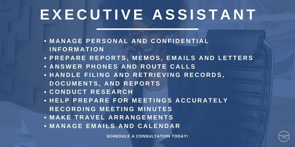 Another one of the positions we have at YPB is Executive Assistant. Click the link in our bio to schedule your consultation or book an executive assistant!  #yourprojectbrd #yourprojectboard #virtualassistant #administrativeassistance #executiveassistant #entrepreneurshippic.twitter.com/H8dCPfTDT6
