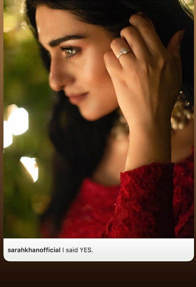 🥺🥺 I like her... Mubarak ho! #SarahKhan