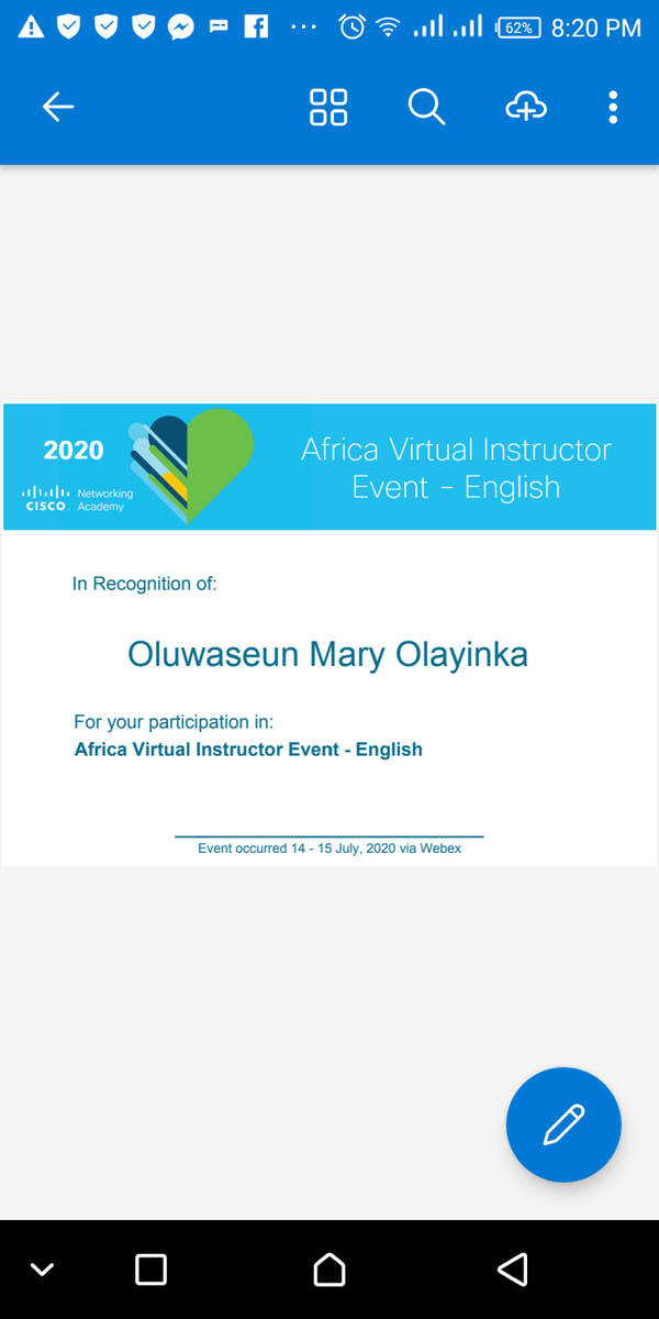 Thank God I participated at Africa Cisco Instructors training #Cisco pic.twitter.com/EzYkSQYHY6