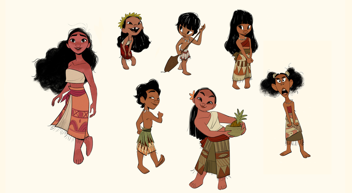 Character design work by Bobby Pontillas for Moana (2016), dir. Ron Clements and John Musker, Walt Disney Animation Studios <br>http://pic.twitter.com/yp4th1BohK