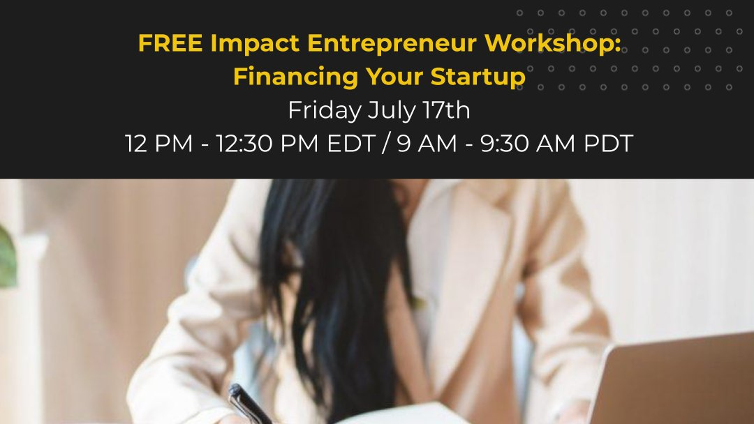 Join business law attorney Brian Moll, Partner at @QuarlesandBrady, for a discussion of financing for start-ups, including convertible notes, SAFE's, Series Seed, Series A and venture debt in this Impact Entrepreneur Workshop this Friday! Register: https://bit.ly/3ew36Gl pic.twitter.com/oV3QN4fKsN