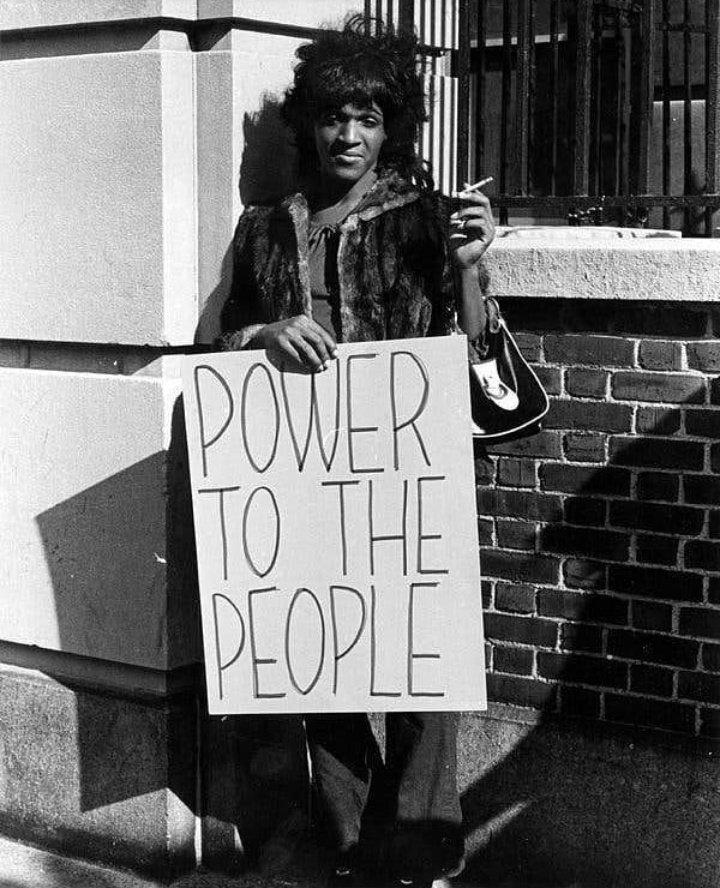 Marsha P Johnson en 1970 https://t.co/592hplqUfm