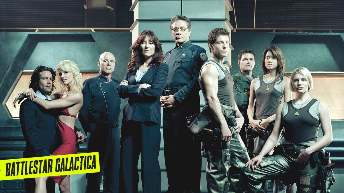 Finally, of course, #BattlestarGalactica. There's no way you're gonna miss out on Battlestar Galactica. https://t.co/qQQsT4Soaa