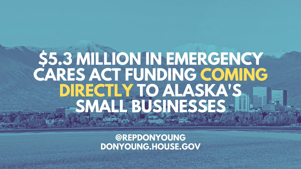 The CARES Act was crucial for supporting our economy at a time of crisis. Today, I'm pleased to announce that $5.3mil in emergency funding is coming directly to AK, so that our small businesses can keep their doors open and workers paid. Read more: https://t.co/bVkNjjuIrh https://t.co/P2JRRLMLOZ