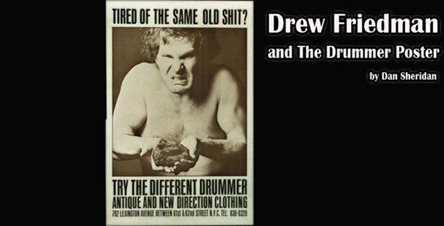 """A message I sent to Drew Friedman: """"For years and years, this poster hung in our rehearsal space while working on songs for our band, The Immigrants. It sat behind my Gretsch drum-kit. I tried to be The Different Drummer."""" pic.twitter.com/mrGx54kinE"""