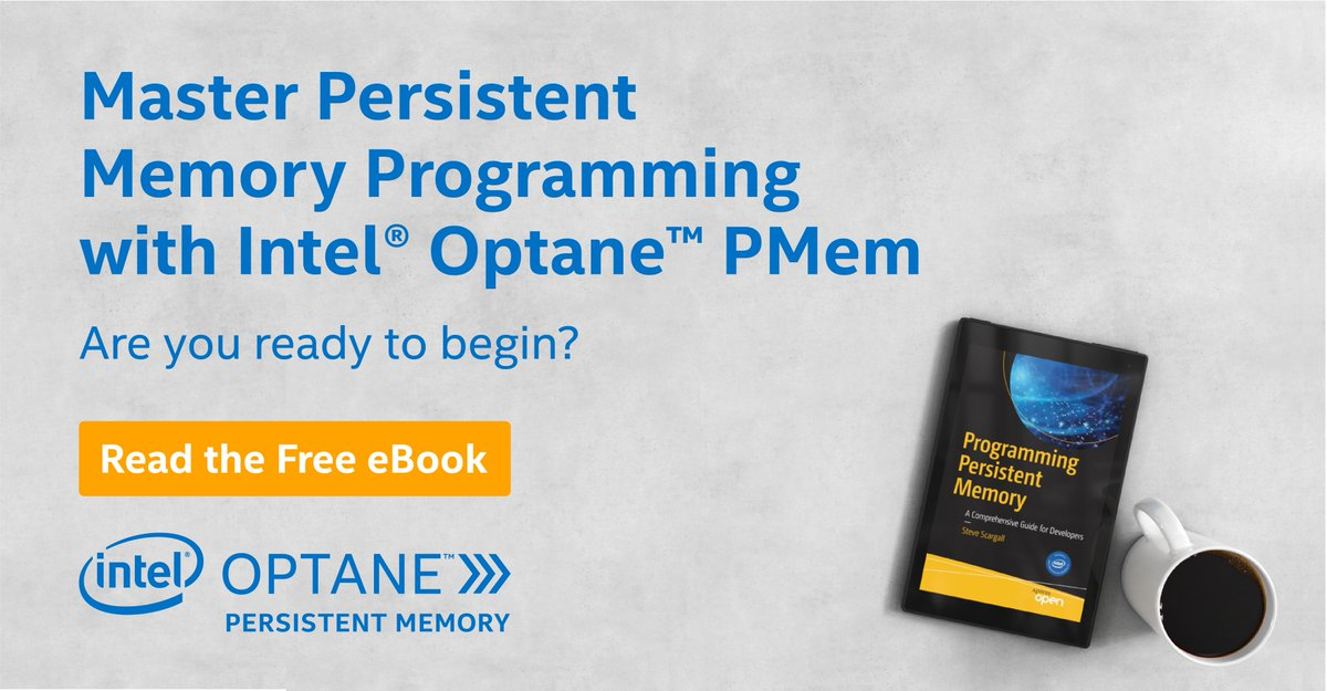 #Developers: want to learn how to code for PMem? Download our free, comprehensive eBook and dive in today. #IAmIntel https://pmem.io/book/ pic.twitter.com/0Qv1dYrYMH