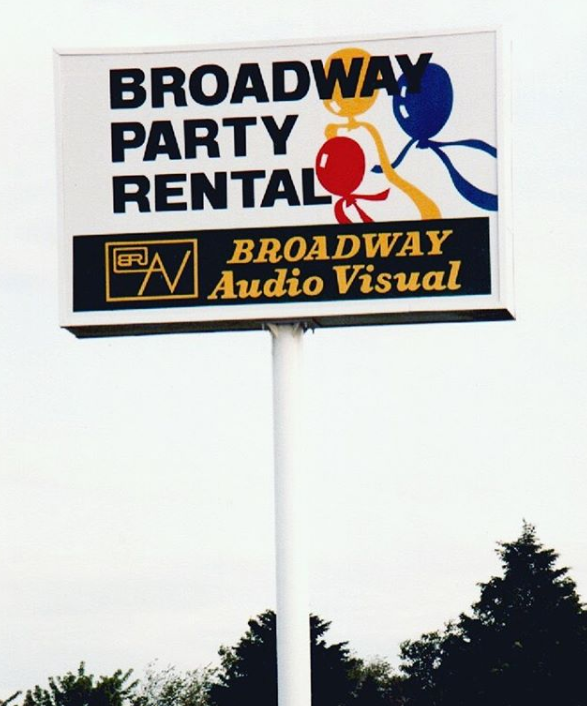Flashback series - image 21. Broadway party rental & Broadway audio visual, new pylon sign project.  . #pylon #signage #pylonsign #signs #sign #electrosigns . https://www.instagram.com/p/CCoe_vLs0qK/pic.twitter.com/GhghOfdo5K