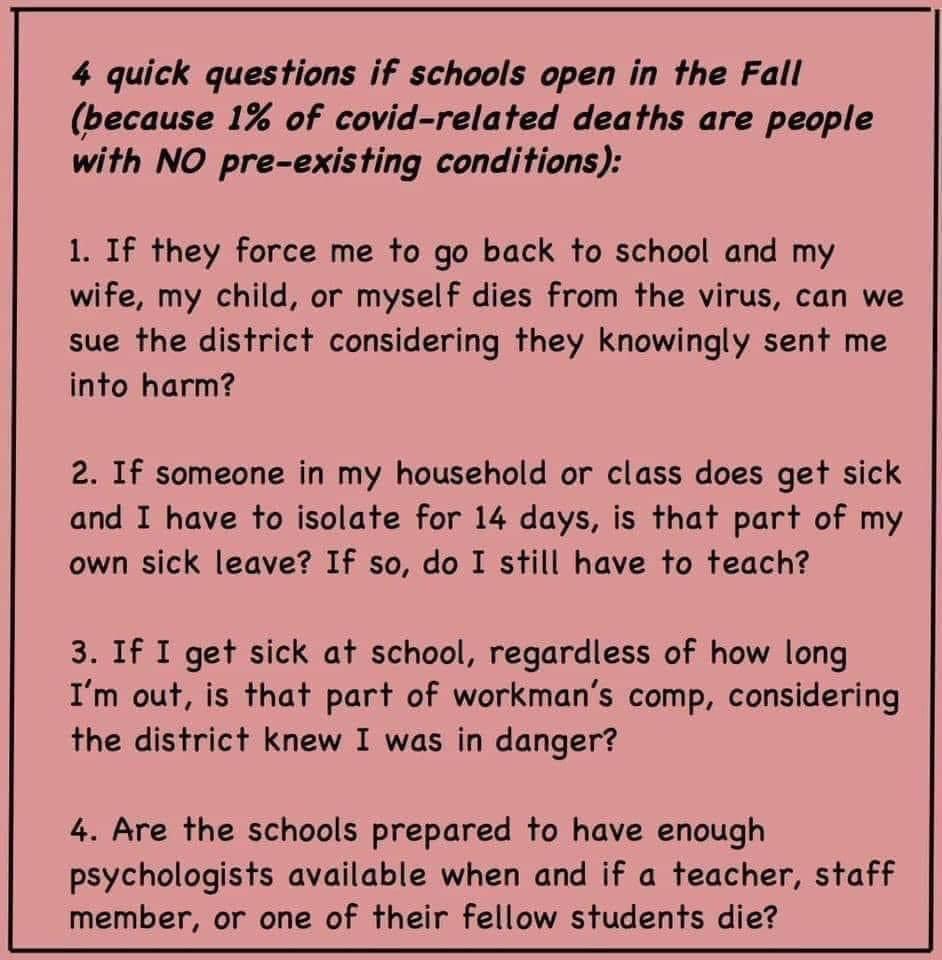 4 questions for educators
