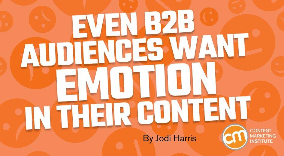 Not all about business: Proof that there's room for emotion in B2B marketing. https://t.co/KHcLLpak1d https://t.co/klm1VC3BpF