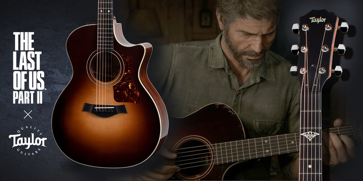 ICYMI: We collaborated with @TaylorGuitars to design Ellie's guitar in #TheLastofUsPartII and produce a real-life recreation of it, which is available alongside a special edition GS Mini on the @PlayStation Gear Store. Pre-orders end on July 31! https://t.co/FtyGqoa8H0 https://t.co/HTQxzhisYz